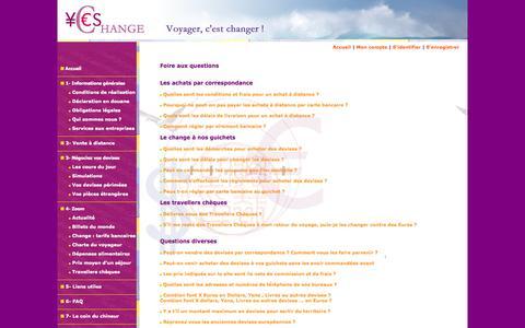 Screenshot of FAQ Page yes-change.com - Yes-Change, des spécialistes du change - captured Oct. 30, 2014