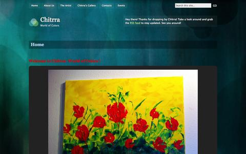 Screenshot of Home Page chitrra.com - Chitrra | World of Colors - captured Sept. 20, 2015