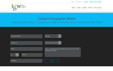 Screenshot of Contact Page infographicworld.com - Contact Us | Infographic Design Agency - captured Oct. 20, 2015
