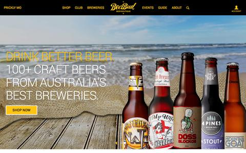 Screenshot of Home Page beerbud.com.au - Discover Australia's Best Craft Beer - BeerBud - captured Sept. 30, 2014