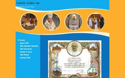 Screenshot of Home Page catholicgoldenage.org - Catholic Golden Age - Home - captured Oct. 22, 2018