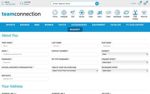 Screenshot of Signup Page teamconnection.com - TeamConnection - captured Nov. 2, 2017