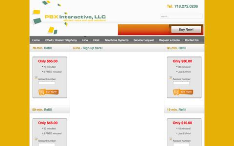 Screenshot of Signup Page pbxinteractive.net - PBXi iLine - Sign up! - captured Oct. 1, 2014