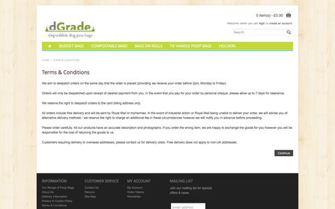 Screenshot of Terms Page dgrade.co.uk - Terms & Conditions - captured Oct. 5, 2014