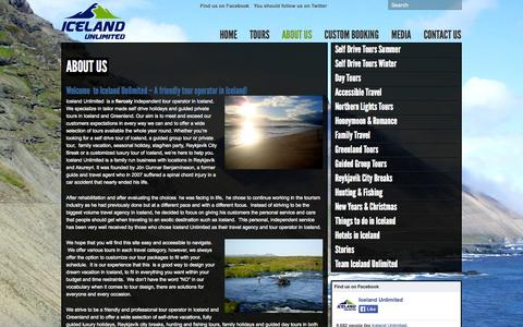 Screenshot of About Page icelandunlimited.is - About us « Iceland Unlimited Iceland Unlimited - captured Oct. 6, 2014