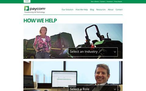 Paycom | How We Help