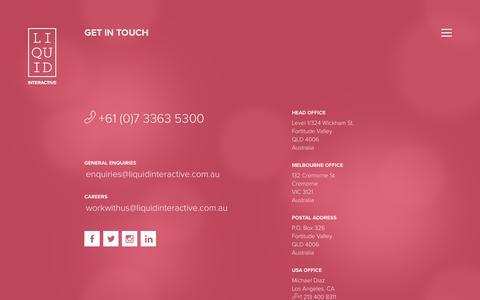 Contact Us | Brisbane Digital Agency | Liquid Interactive
