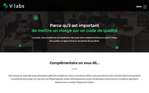 Screenshot of Team Page v-labs.fr - Notre équipe | V-labs - captured Sept. 20, 2018