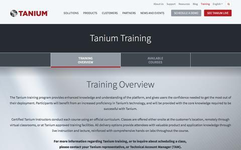 Tanium Training - Tanium