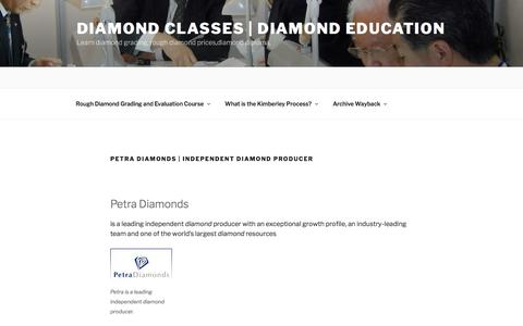 Petra Diamonds | Independent diamond producer | Diamond Classes | Diamond Education