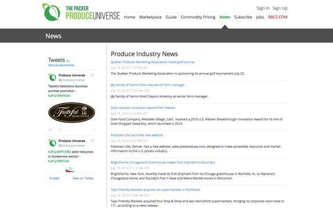 Screenshot of Press Page produceuniverse.com - Produce Universe - News - captured July 17, 2016