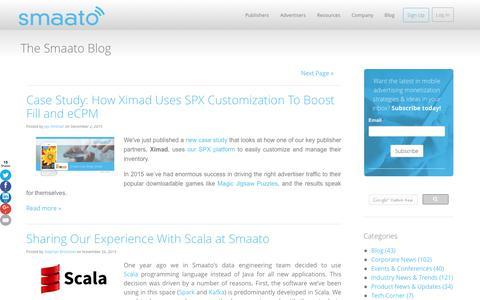 Screenshot of Blog smaato.com - Smaato Blog - captured Dec. 4, 2015