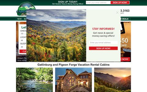 Screenshot of Home Page cabinfevervacations.com - Home | Cabin Fever - Cabin Fever - captured Nov. 4, 2018