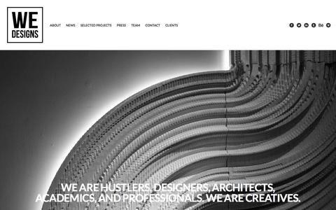 Screenshot of Home Page we-designs.com - WE-DESIGNS - captured Dec. 21, 2015
