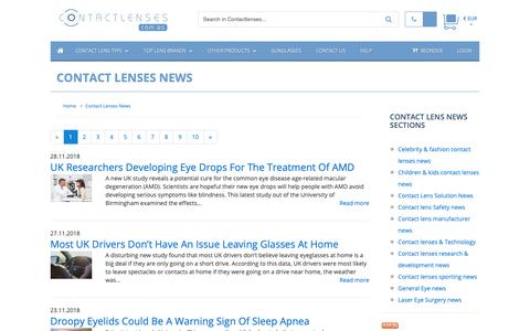 Screenshot of Press Page contactlenses.com.es - Contact Lenses News :: Buy Cheap Contact lenses in Spain - captured Dec. 1, 2018