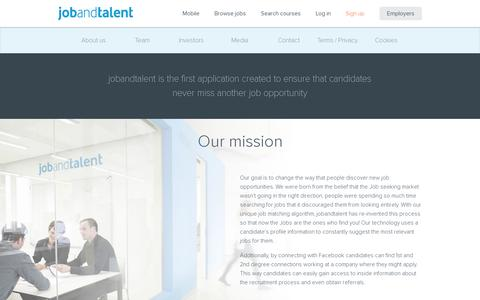Screenshot of About Page jobandtalent.com - All you need to know about jobandtalent | jobandtalent - captured July 20, 2014