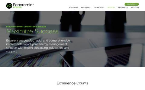 Screenshot of Services Page panpwr.com - Energy Management Services | Panoramic Power - captured July 3, 2015