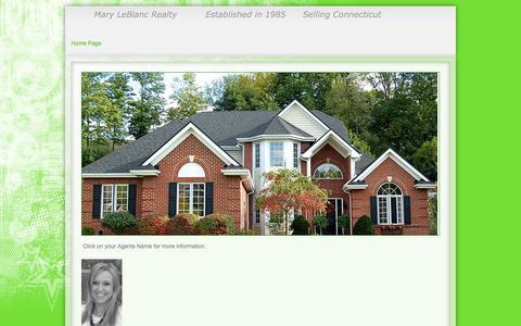Screenshot of Home Page maryleblancrealty.com - Page 1 - captured Sept. 30, 2014