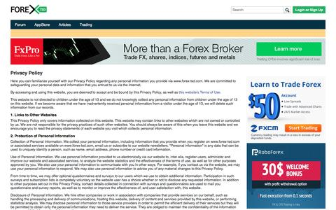 Privacy Policy Forex TSD