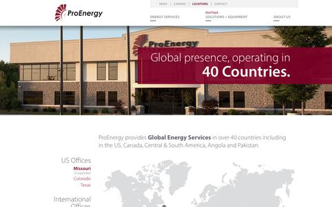 Screenshot of Locations Page proenergyservices.com - ProEnergy Locations | Global Energy Services - captured May 22, 2017