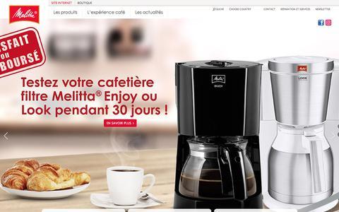 Screenshot of Home Page melitta.fr - Cafetiere, café, machine à café, machine à expresso | Melitta.fr - captured Jan. 17, 2018