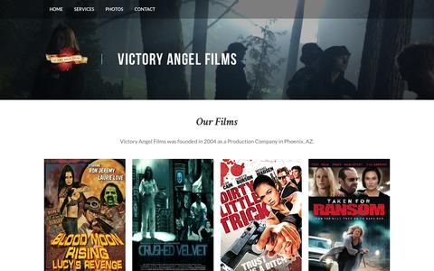 Screenshot of Home Page victoryangelfilms.com - Victory Angel Films - Home - captured Dec. 15, 2016