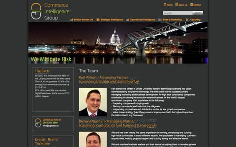Screenshot of About Page cigroup.cc - About Us - captured Oct. 2, 2014