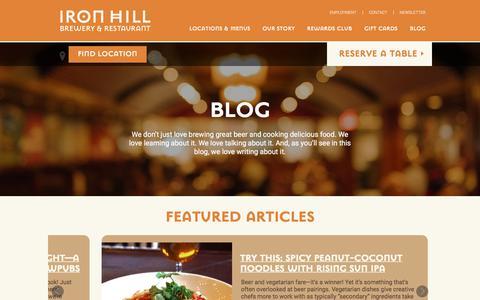 Screenshot of Blog ironhillbrewery.com - Blog | Iron Hill Brewery - captured Sept. 22, 2017