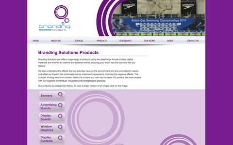 Screenshot of Products Page brandingsolutions.net - Branding Solutions Products - captured Oct. 5, 2014