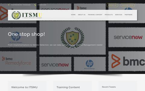 Screenshot of Home Page itsmuniversity.net - ITSM University - captured June 7, 2017
