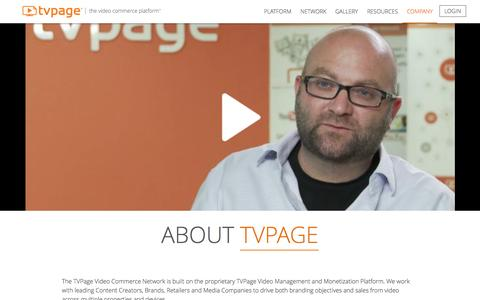 Screenshot of About Page tvpage.com - Video Marketing Platform | Video Production | San Diego | TVPage - captured Oct. 2, 2015