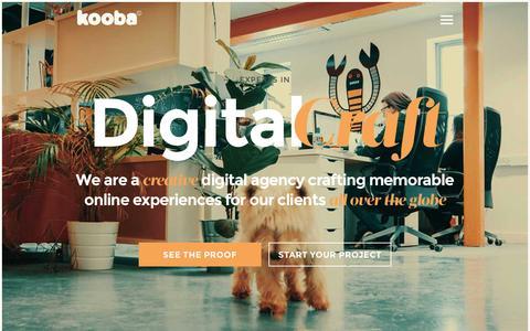 Screenshot of Home Page kooba.ie - Web Design Kooba  - The Award Winning Agency - Dublin, Ireland - captured Jan. 9, 2016