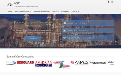 Screenshot of Home Page agcservice.com - AGC Sales & Service Representative - captured Oct. 6, 2017