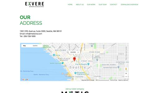 Screenshot of Maps & Directions Page exvere.com - exvere2 | MAP - captured July 24, 2018
