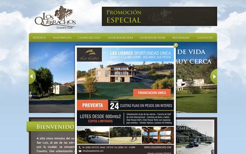 Screenshot of Home Page losquebrachos.com - Country en San Luis Golf Los Quebrachos Country Golf - captured Jan. 26, 2015