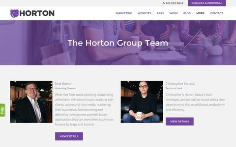 Screenshot of Team Page hortongroup.com - Horton Group Team | Nashville Marketing Firm | Horton Group - captured July 16, 2016
