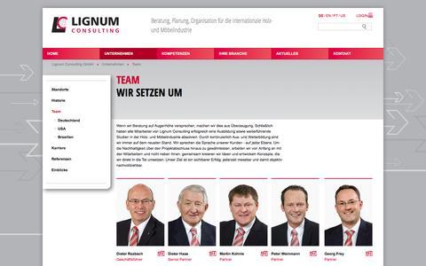 Screenshot of Team Page lignum-consulting.com - Lignum Consulting Team - captured Oct. 3, 2014