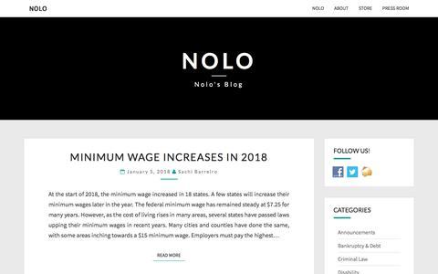 Nolo - Nolo's Blog