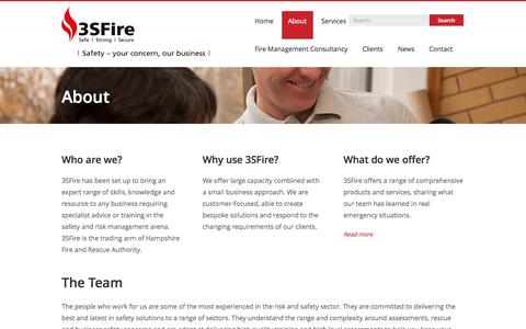 Screenshot of About Page 3sfire.co.uk - Bespoke Fire Training   Business Fire Safety Solutions   3SFire Ltd. - captured Sept. 30, 2014