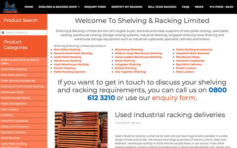 Screenshot of Press Page shelving-racking-limited.co.uk - News - Shelving & Racking Ltd. - captured June 11, 2019