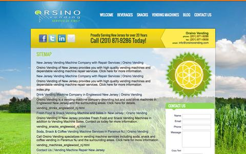 Screenshot of Site Map Page orsinovending.com - Sitemap - captured Oct. 26, 2014