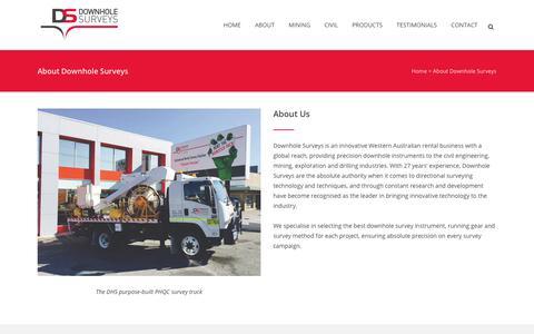 Screenshot of About Page downhole.com.au - About Downhole Surveys - Downhole Surveys - captured Oct. 12, 2017