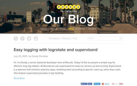 Screenshot of rounds.com - Blog | Rounds - captured July 22, 2016