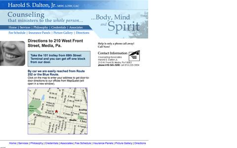 Screenshot of Maps & Directions Page 2talktherapy.com - 2talktherapy.com - Christian Counseling by Harold S. Dalton, Jr. MSW, LCSW, CAC - captured June 14, 2016