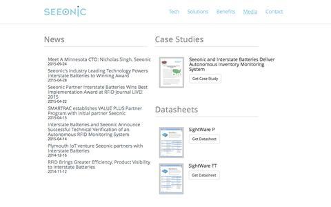 Screenshot of Press Page seeonic.com - Seeonic - captured Dec. 4, 2015