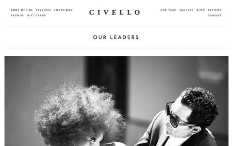 Screenshot of Team Page civello.com - OUR TEAM — CIVELLO - captured Jan. 10, 2018