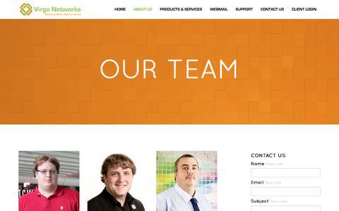Screenshot of Team Page virgo-networks.co.uk - Virgo Networks :: Our Team - captured Nov. 7, 2017
