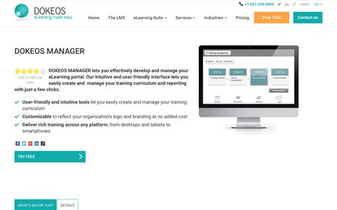 DOKEOS MANAGER is a complete LMS that meets all your needs