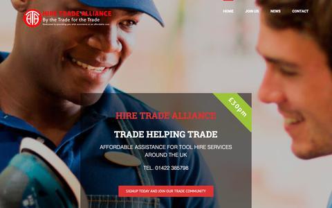 Screenshot of Home Page hiretradealliance.com - Hire Trade Alliance – Hire Trade Alliance - captured Nov. 10, 2018