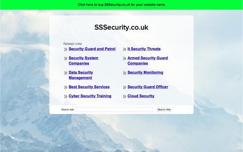 Screenshot of Home Page sssecurity.co.uk - SSSecurity.co.uk - captured Dec. 1, 2016